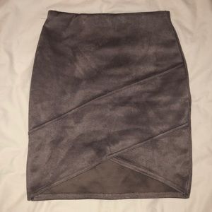 Grey High Waisted Missguided Skirt